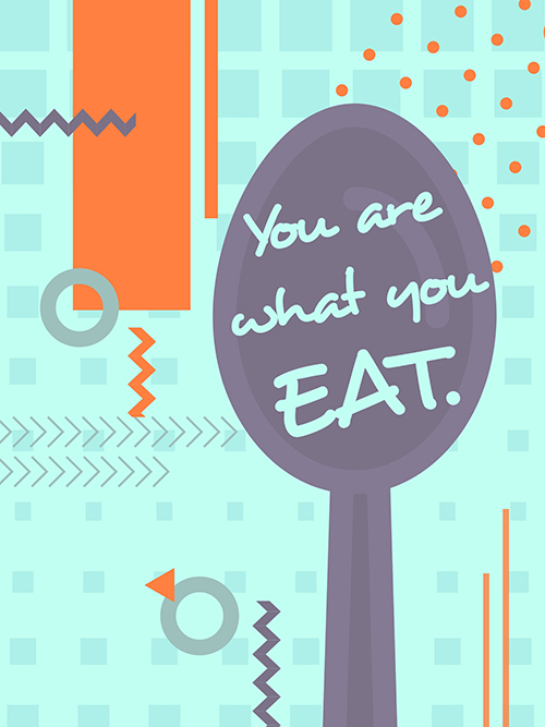 You Are What You Eat Quote Poster Template