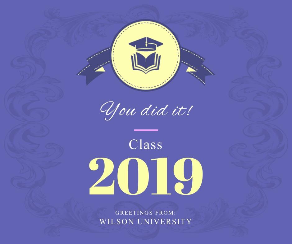 You Did It Class 2019 Graduates Facebook Post Template