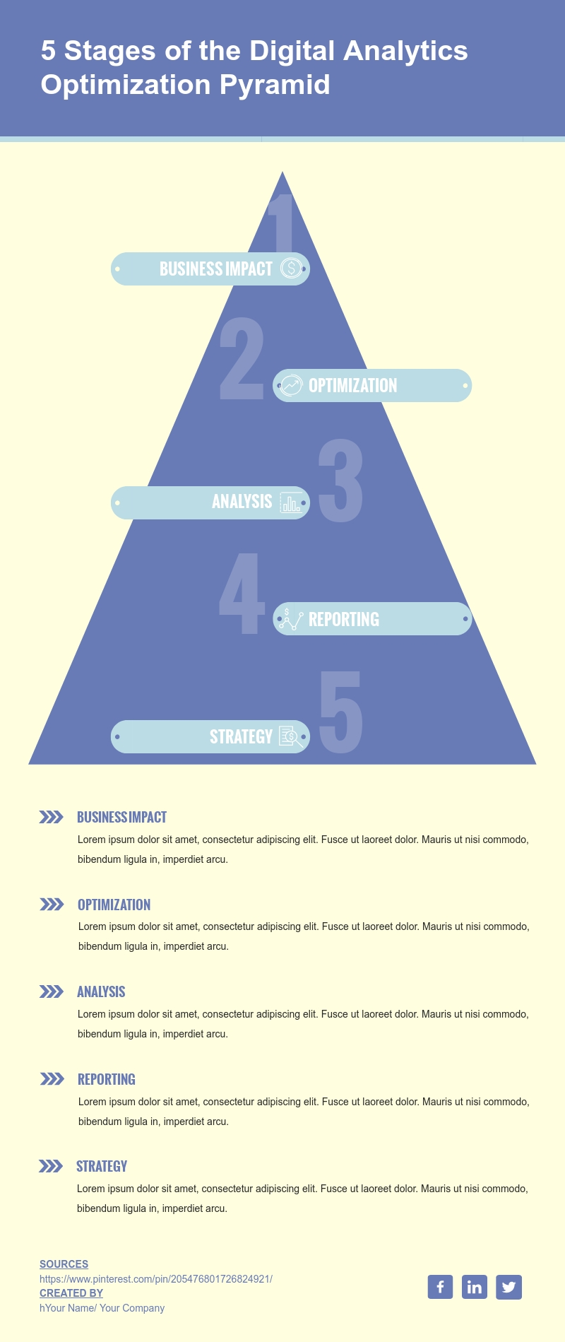 5-Level Pyramid Chart - Infographic Template