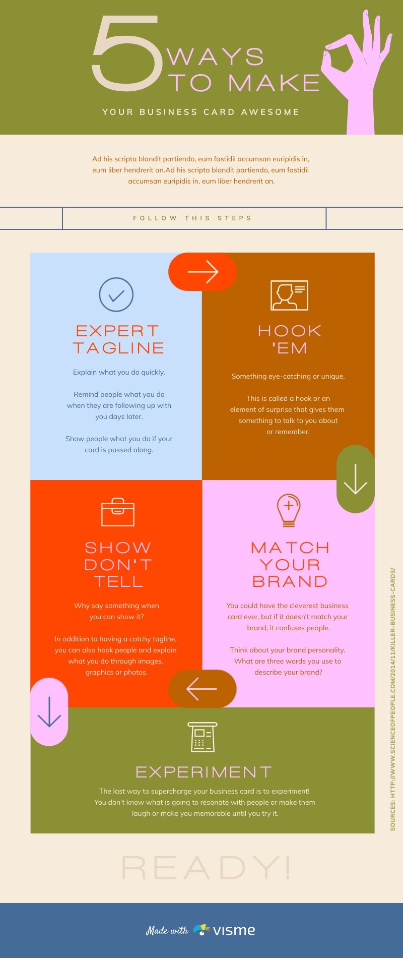 5 Simple Ways - Infographic Template
