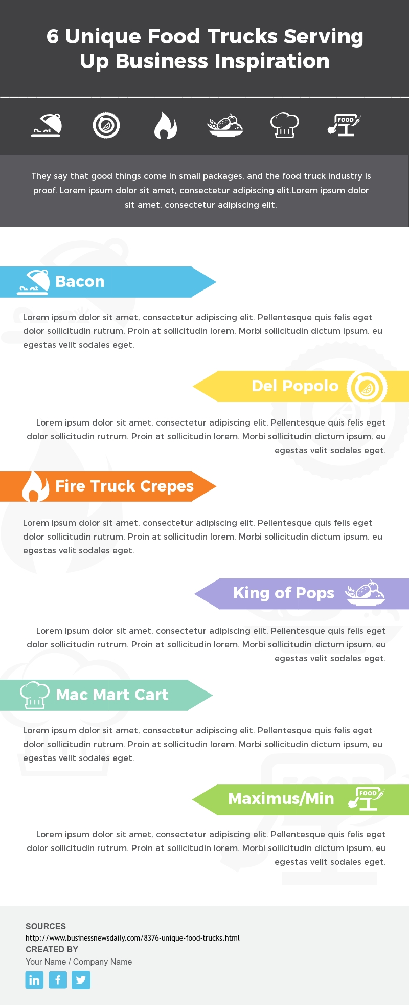Food Truck - Infographic  Template
