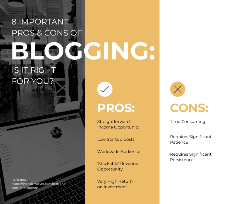 8 Important Pros and Cons of Blogging T Chart Template