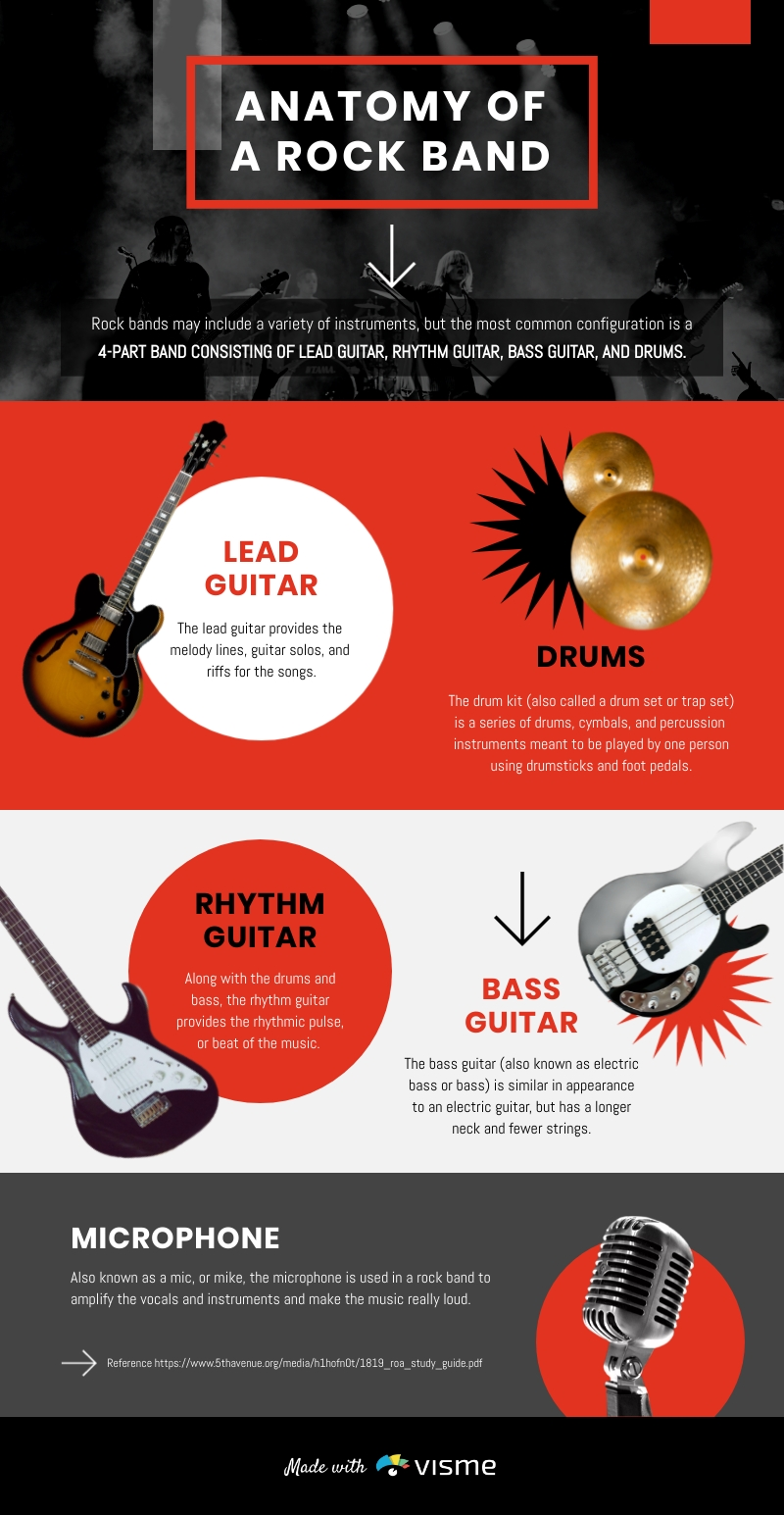 Anatomy of a Rock Band - Infographic Template
