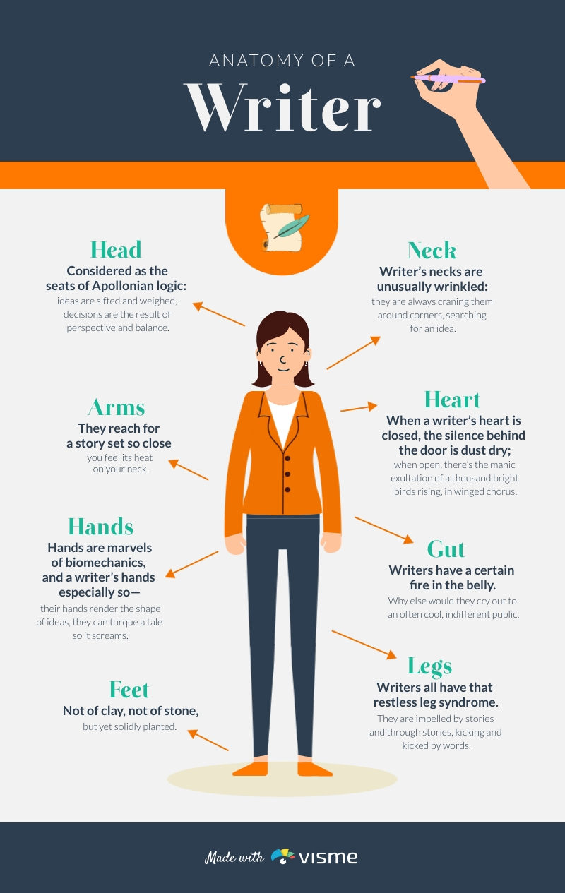 Anatomy of a Writer - Infographic Template