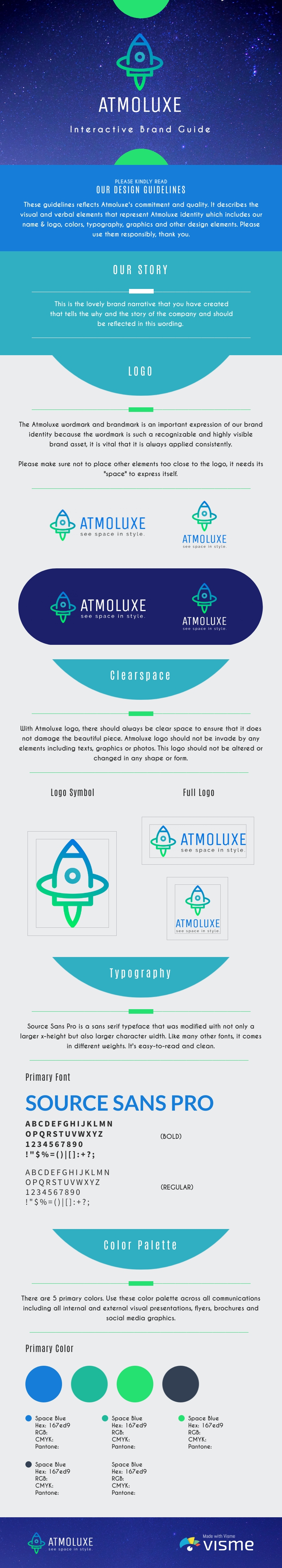 Space Brand Guidelines - Infographic Template