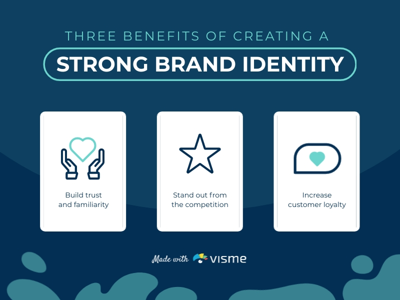 Benefits of Brand Identity Infographic Template