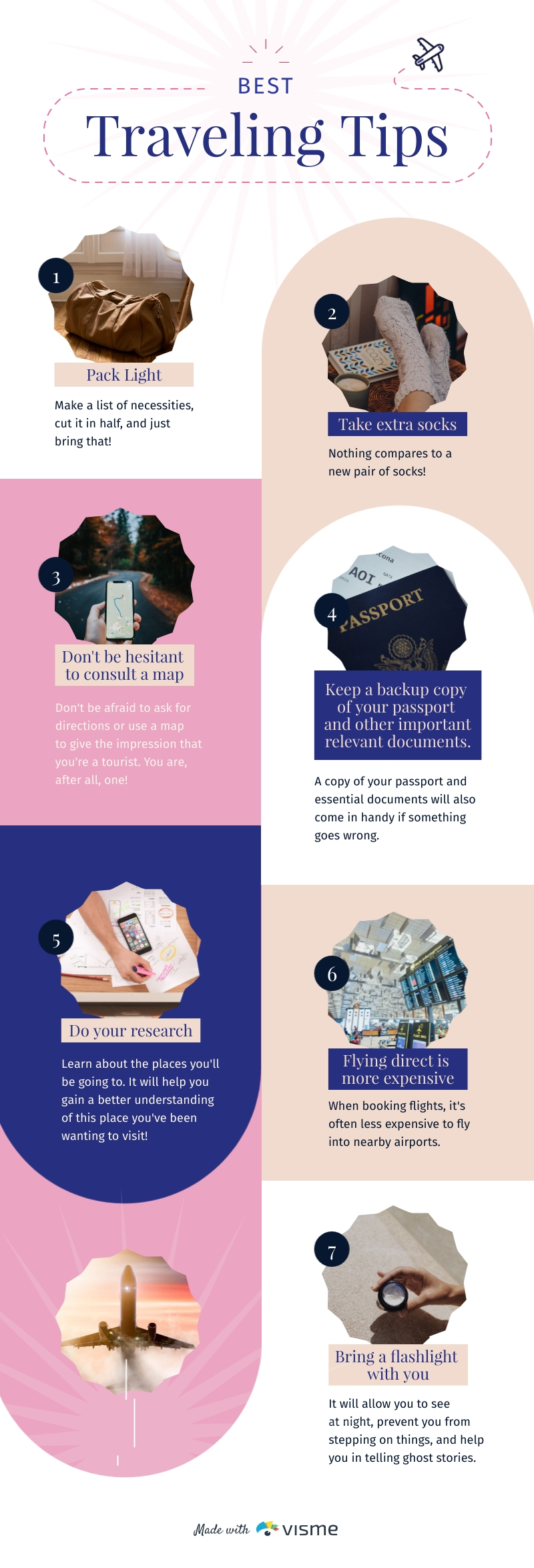 Best Traveling Tips - Infographic Template