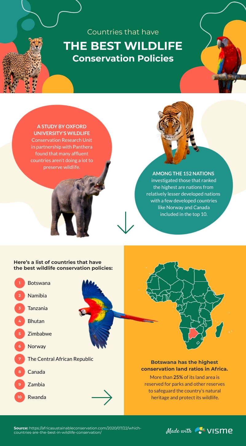 Best Wildlife Conservation Countries Infographic Template