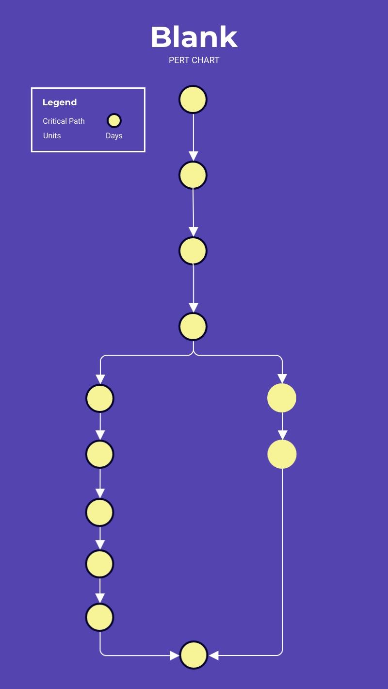 Blank - PERT Chart Template