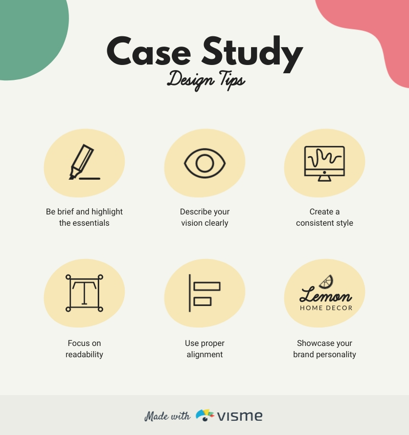 Case Study Design Tips - Infographic Template