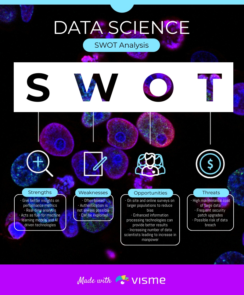 Data Science SWOT Analysis Infographic Template