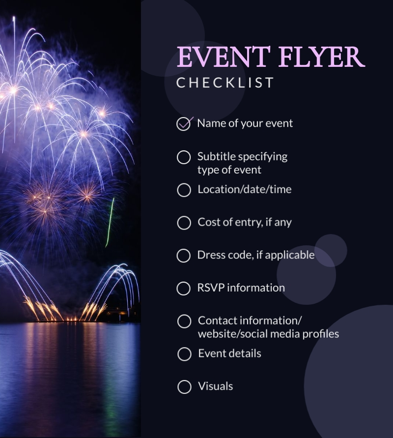 Event Flyer Checklist - Infographic Template
