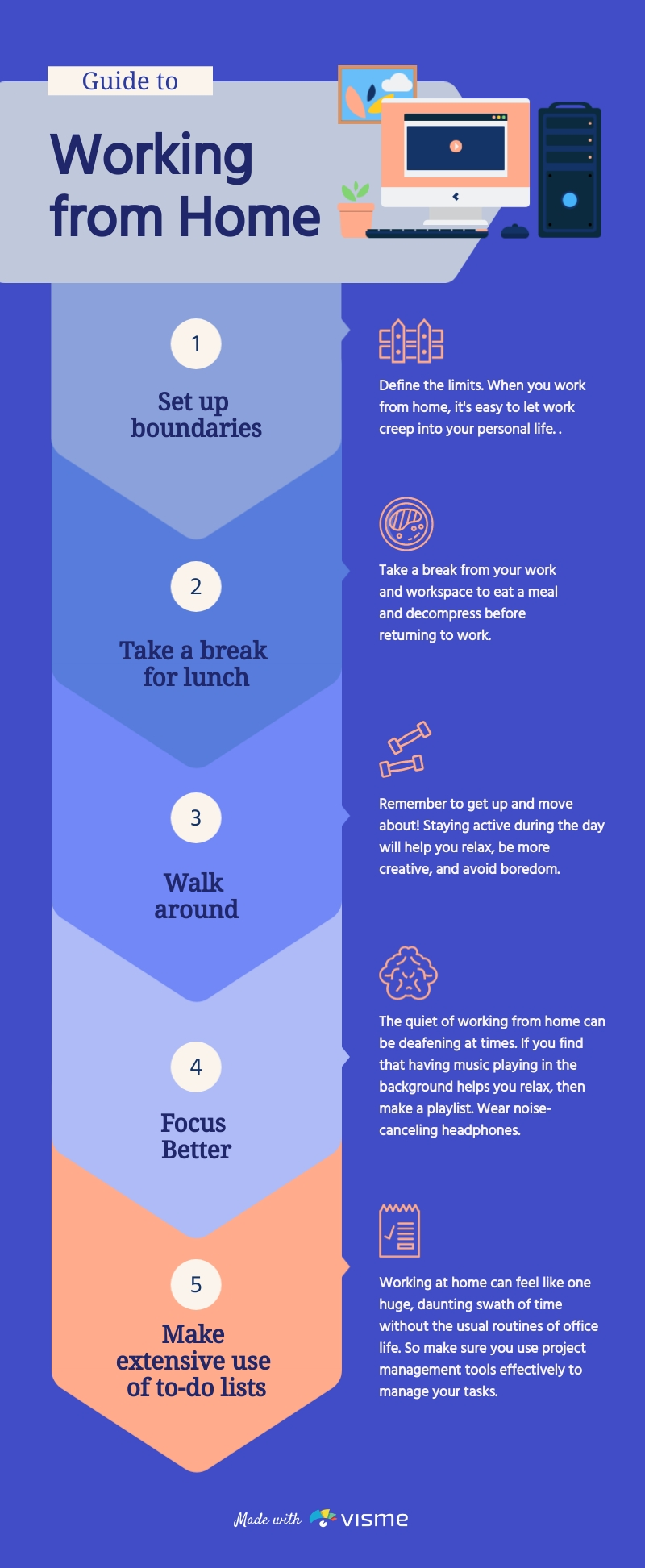 Guide to Working From Home - Infographic Template