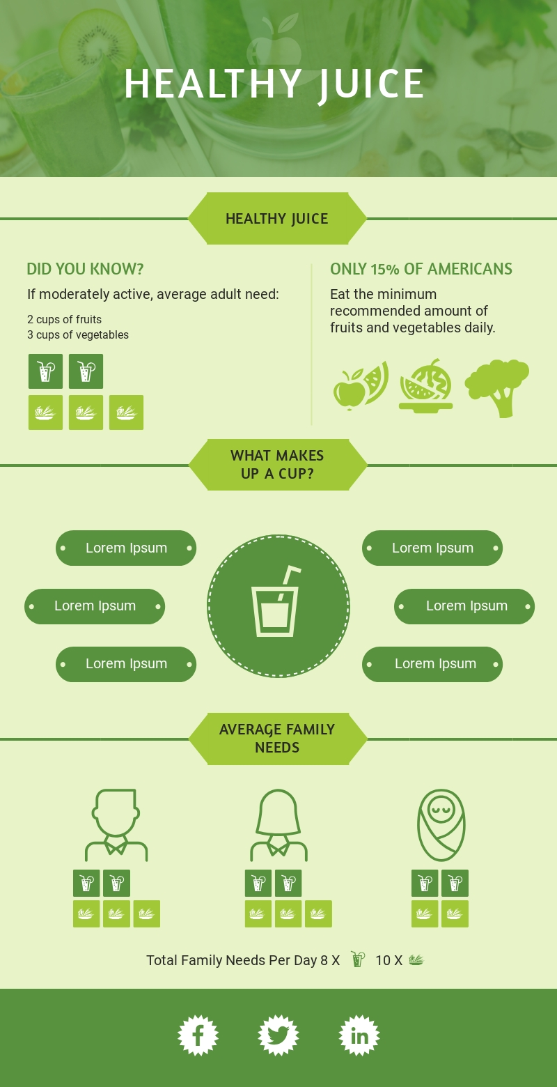Healthy Eating - Infographic Template