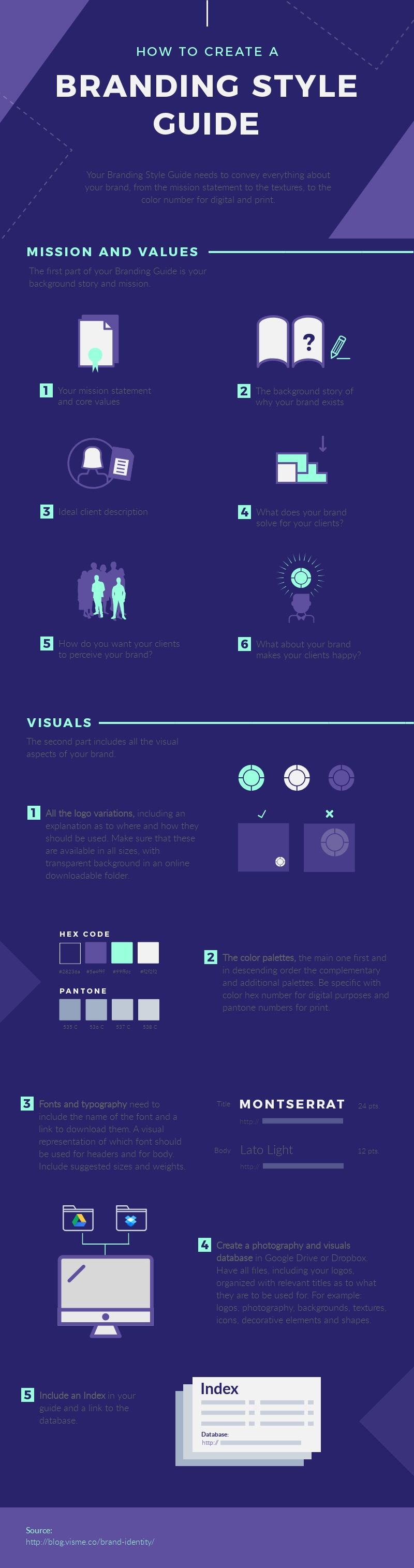 How to Create a Branding Style Guide - Infographic Template