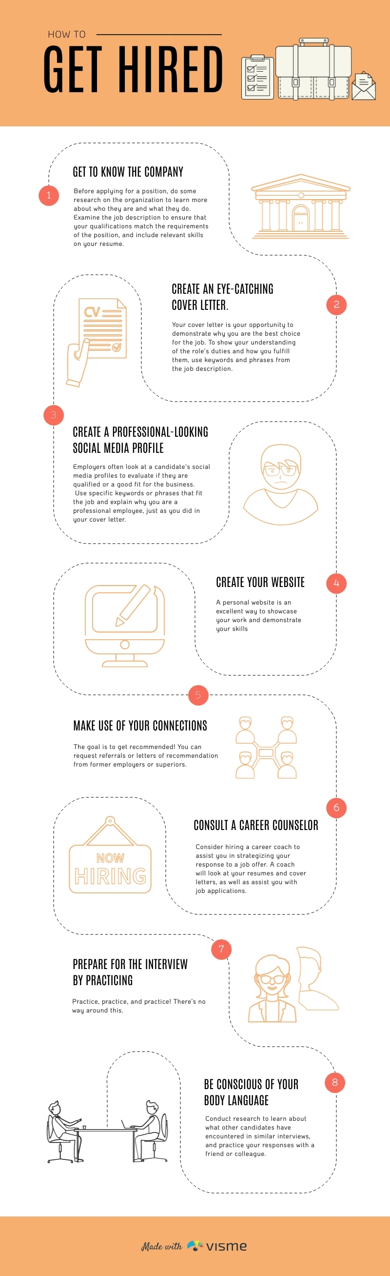 How to Get Hired - Infographic Template