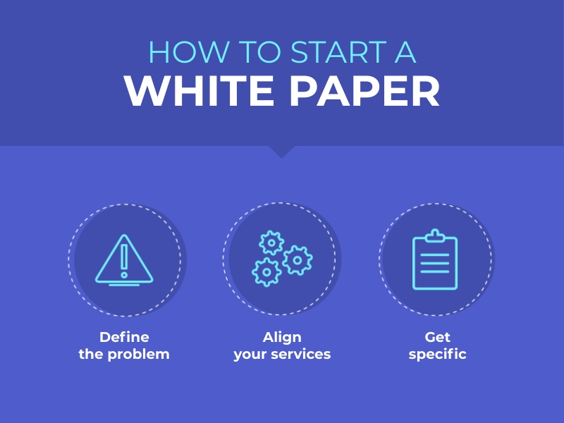 How to Start a White Paper Infographic