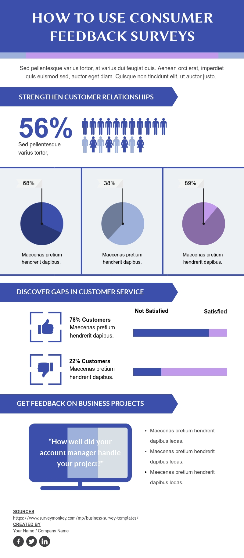 How to Use Consumer Feedback Surveys - Infographic Template