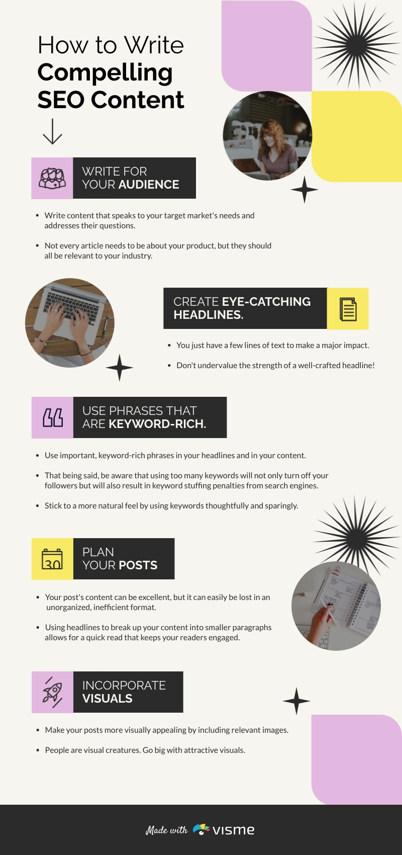 How to Write SEO Content - Infographic Template