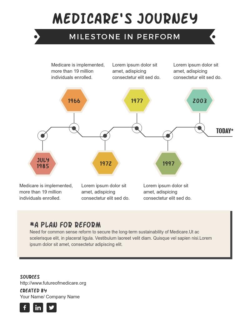 Performance Milestone Timeline - Infographic  Template
