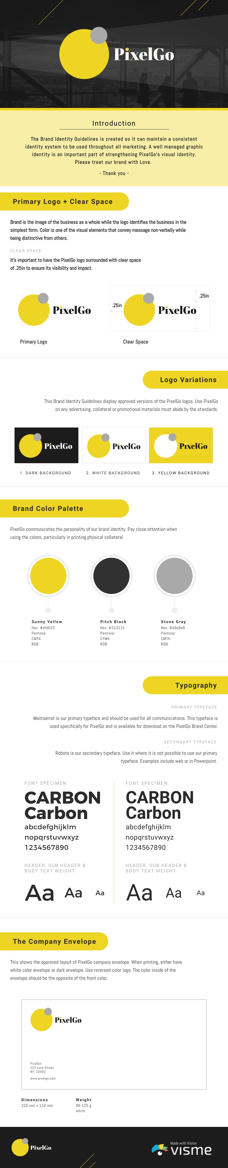 Tech Company Brand Guidelines - Infographic Template