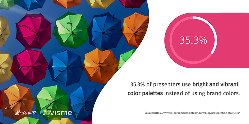 Vibrant Colors in Presentations - Infographic Template