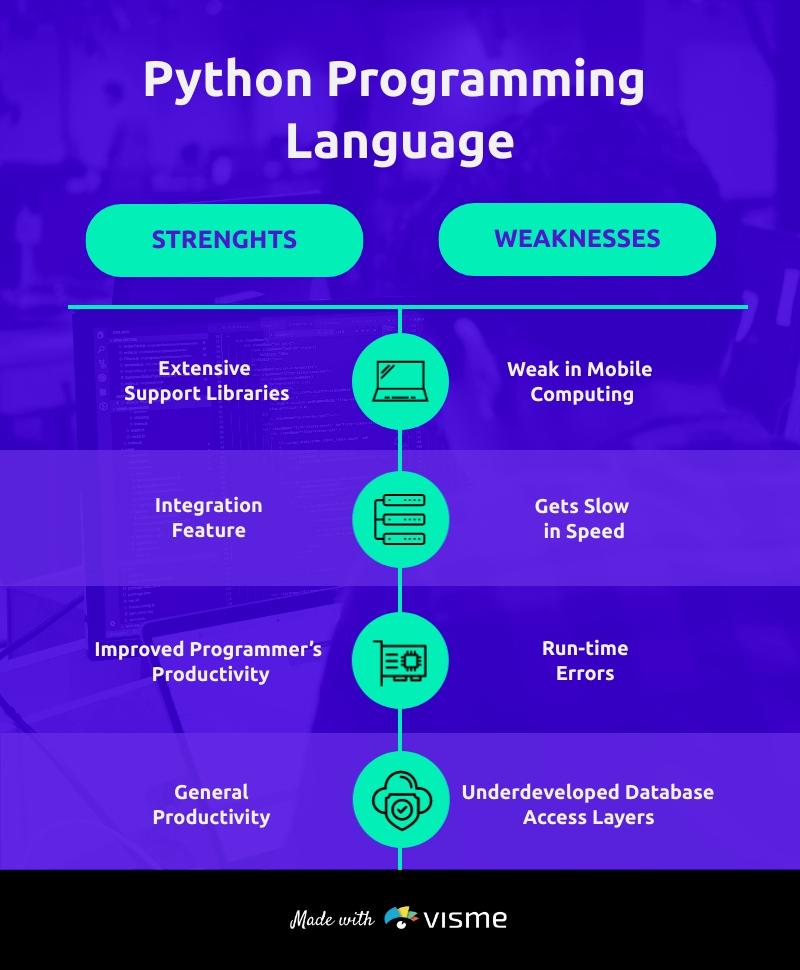 Python Programming Language T Chart Template