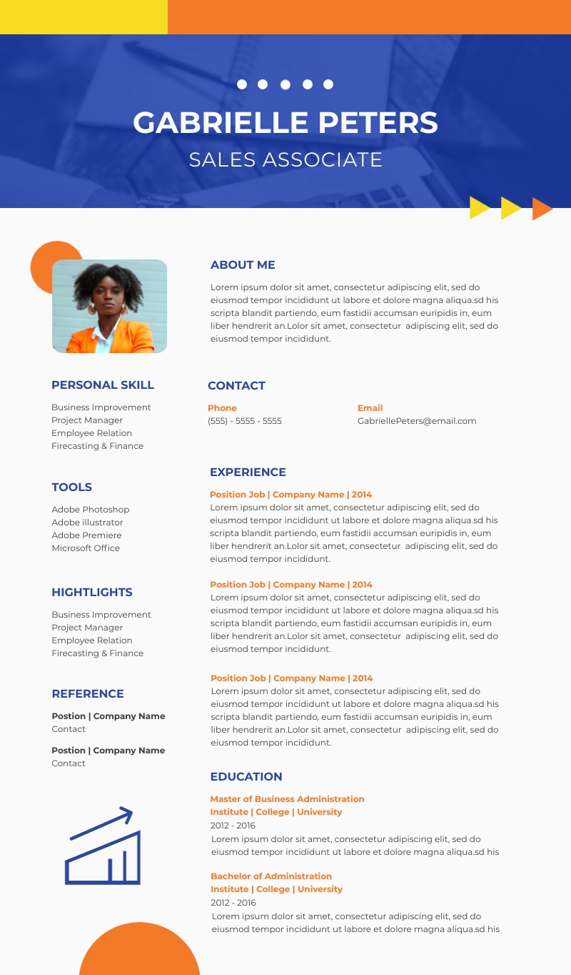 Sales Associate Resume - Infographic Template
