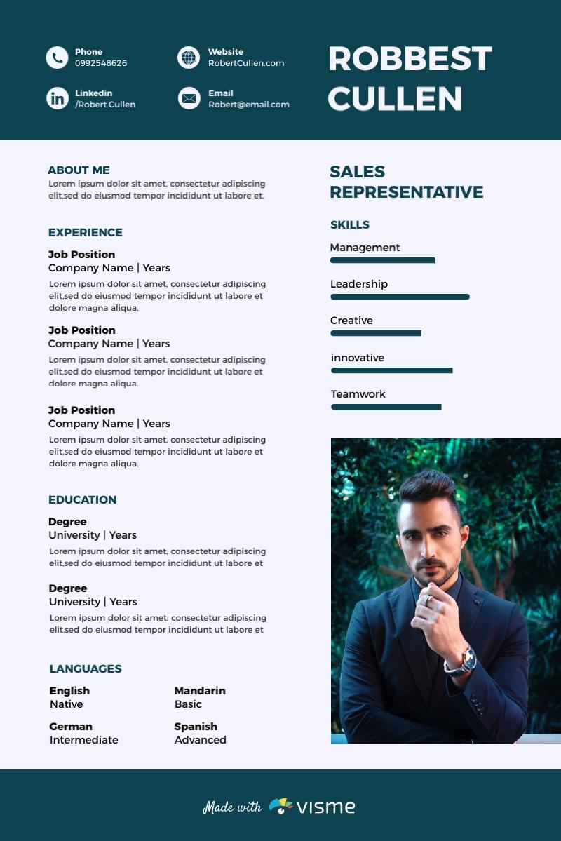 Sales Representative Resume Template