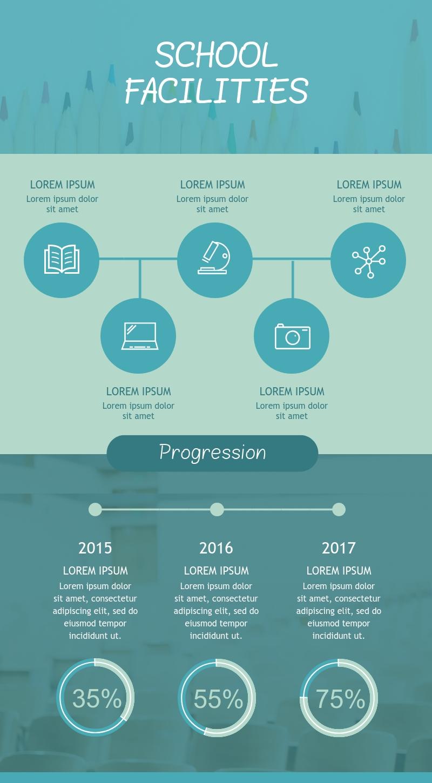 School Facilities - Infographic Template