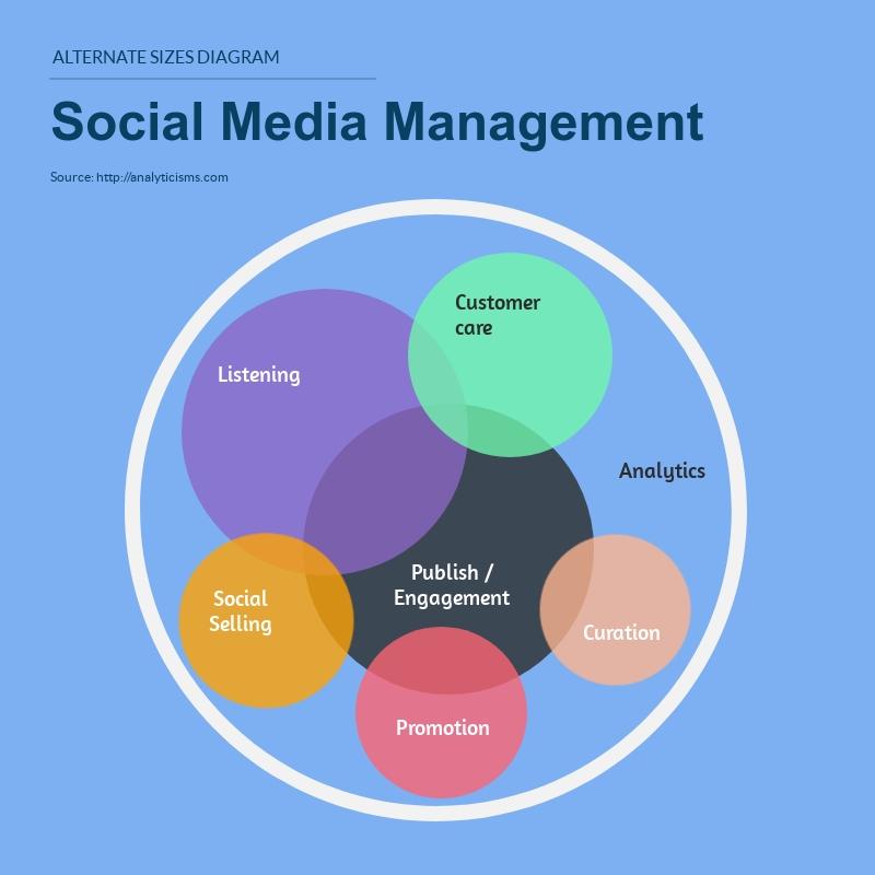 Social Media Venn Diagram - Infographic Template