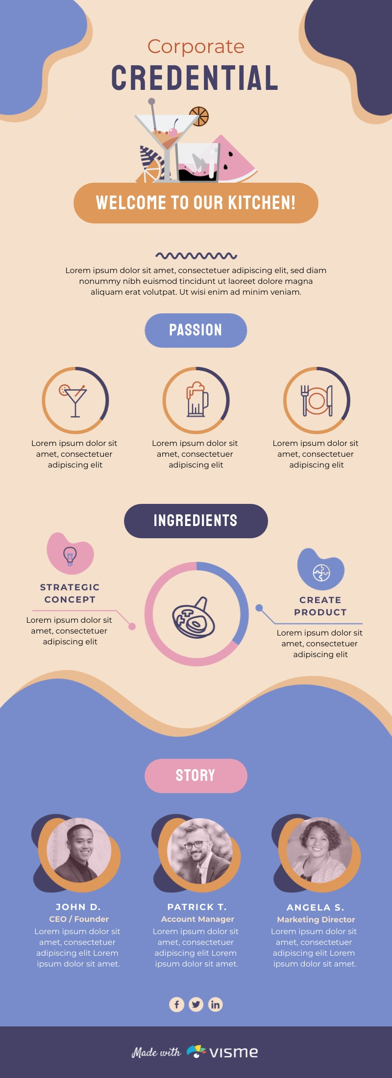 Startup Credential - Infographic Template