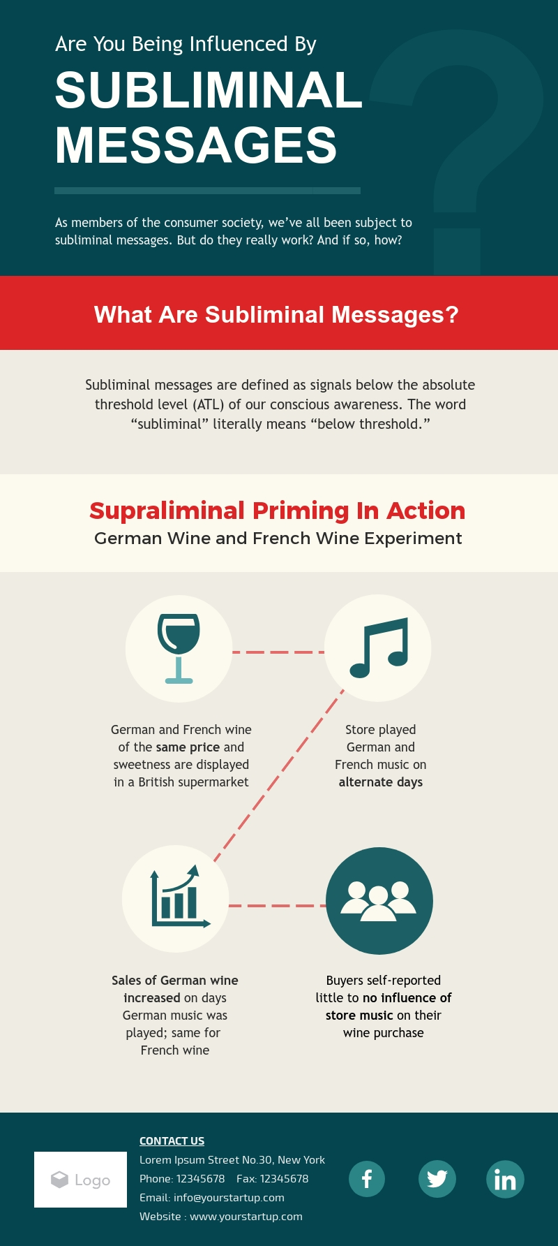 Subliminal Messages - Infographic Template