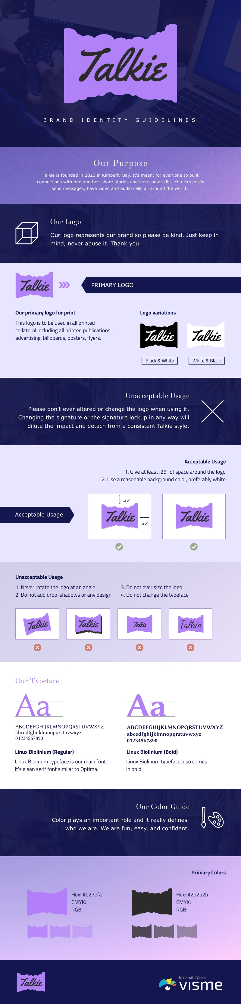 Web App Brand Guidelines - Infographic Template