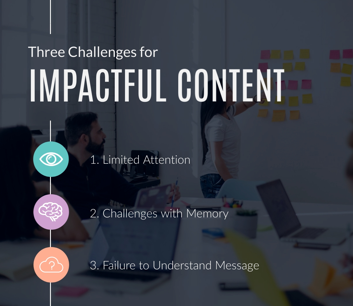 Three Challenges for Impactful Content - Infographic Template