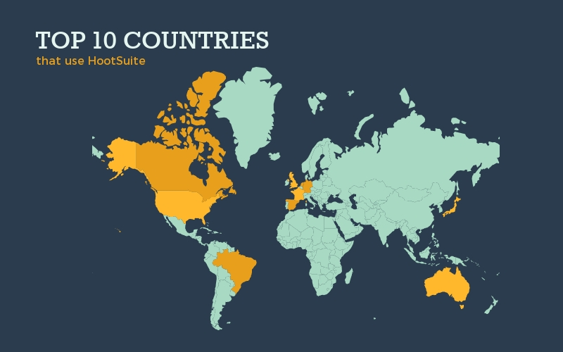 Top 10 Countries Map - Infographic Template