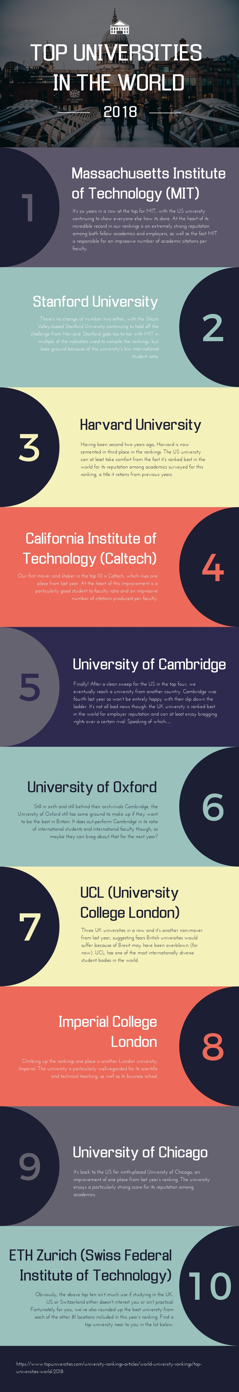 Top Universities in the World - Infographic Template