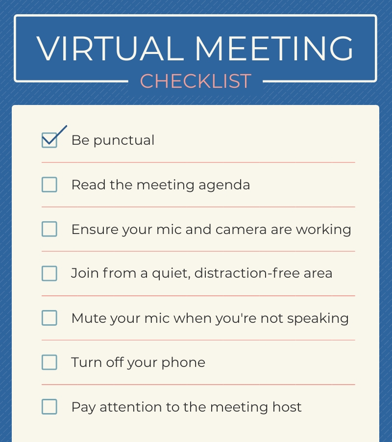 Virtual Meeting Checklist - Infographic Template