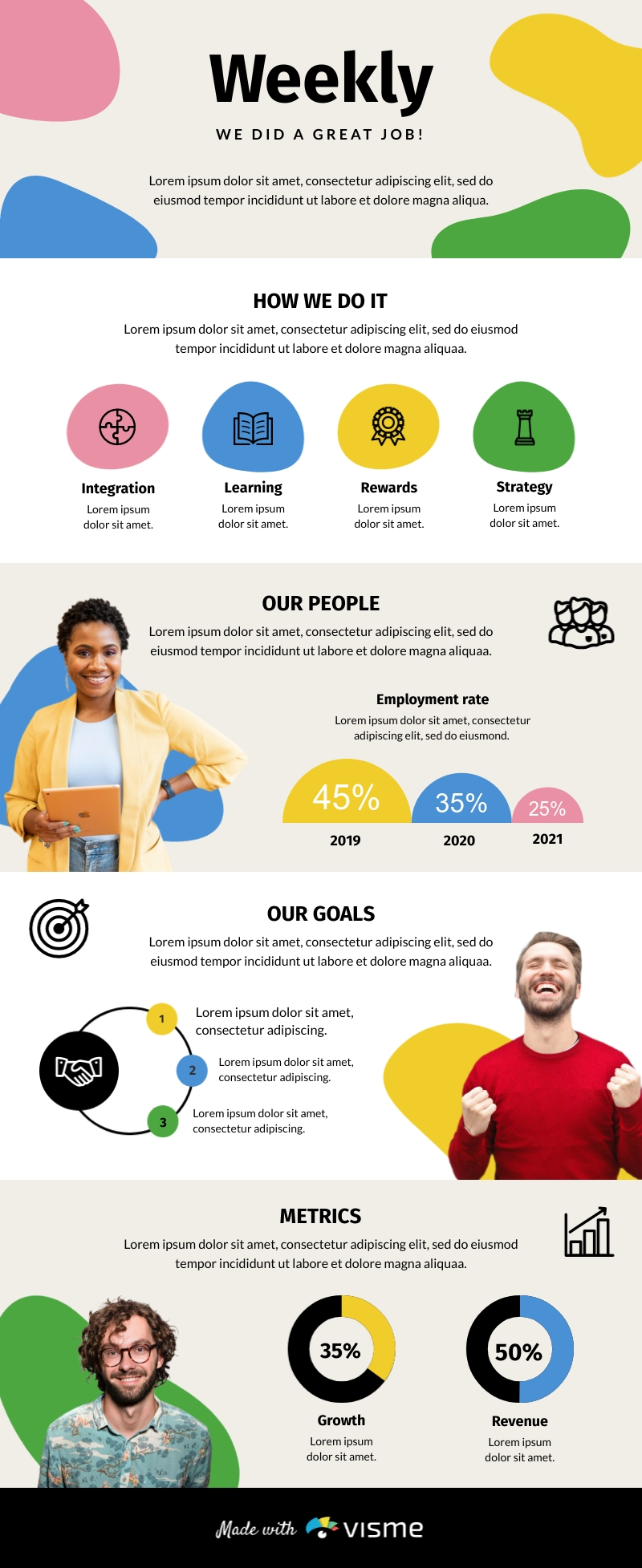 Weekly Jobs - Infographic Template