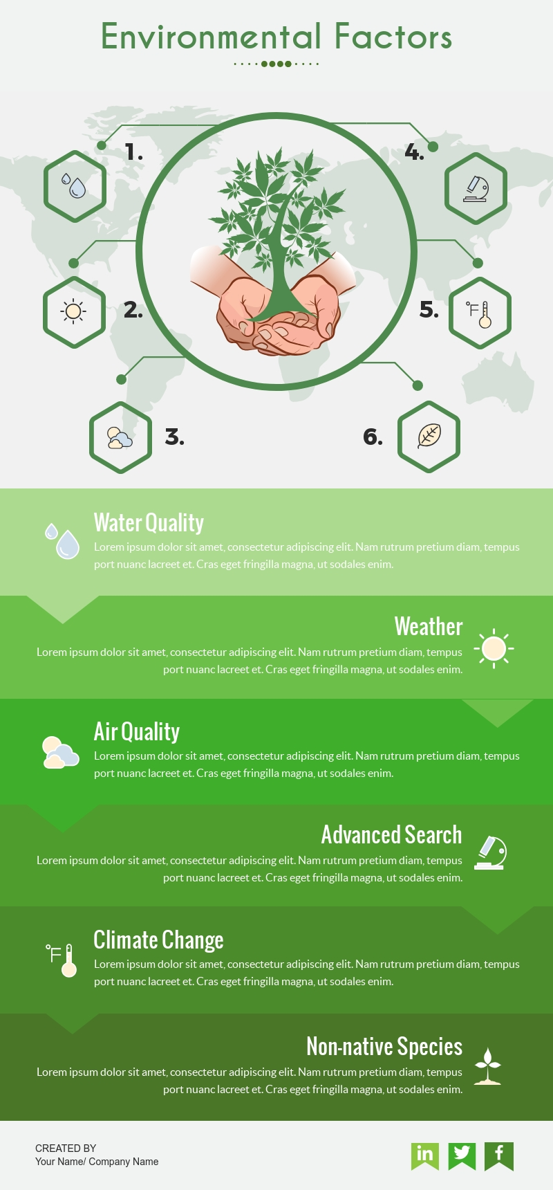 environment infographic templates