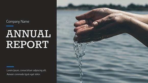 Nonprofit Report - Presentation Template