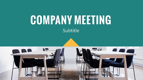 Meeting Agenda - Presentation Template