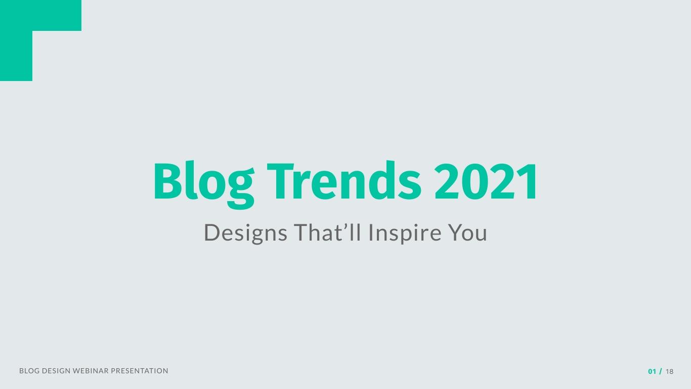 Blog Design Webinar Presentation  Template