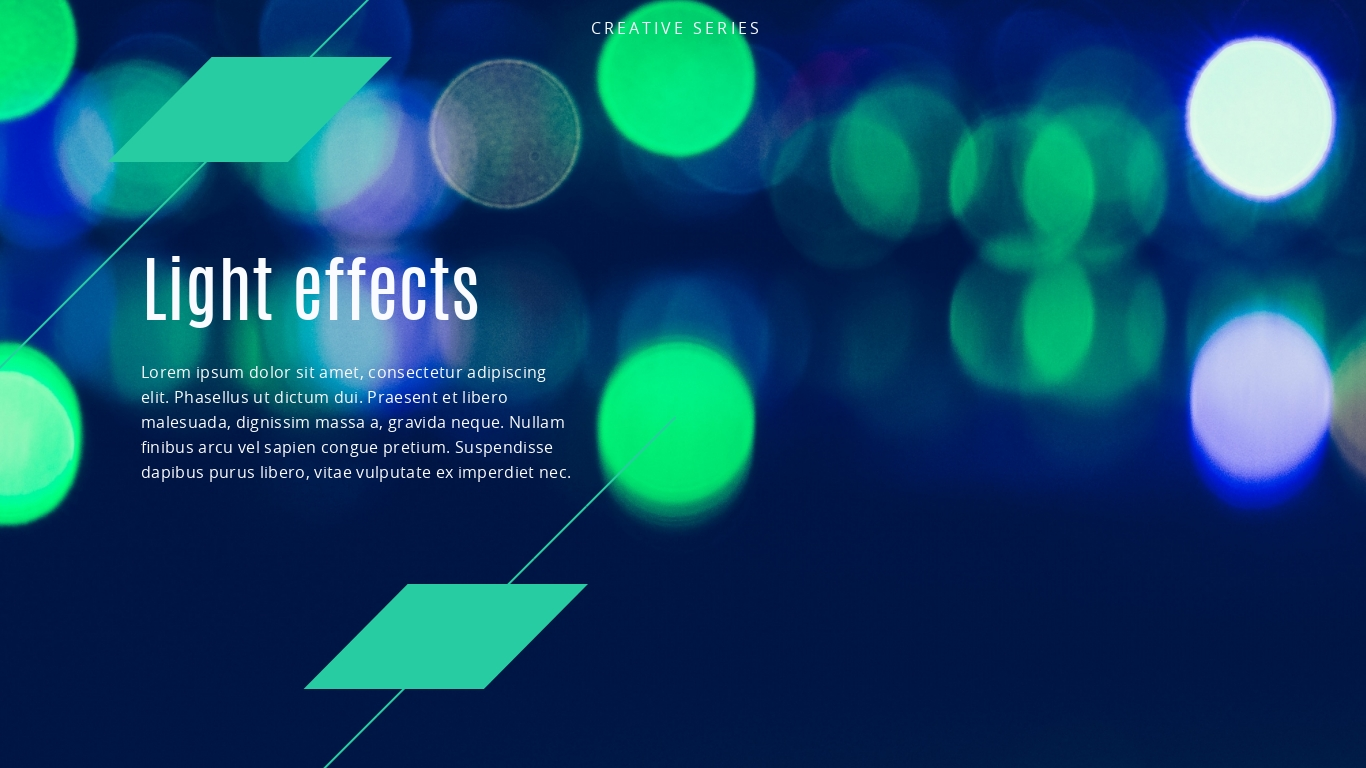 bright colorful background presentation template