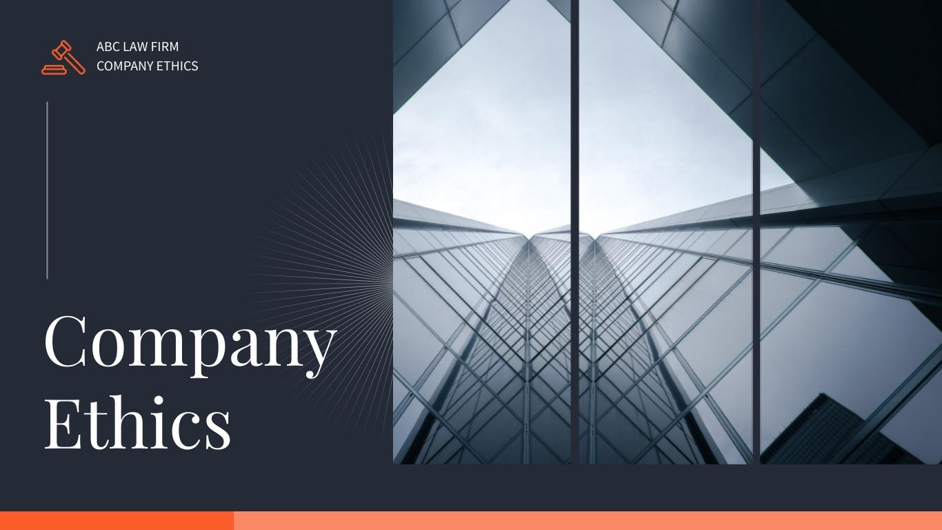 Company Ethics Presentation Template