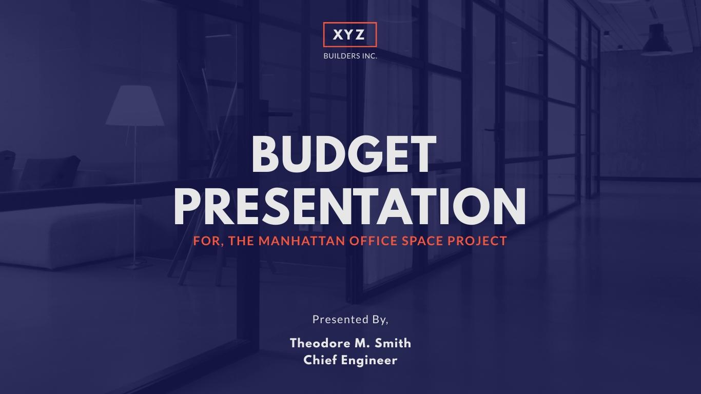 Construction Budget Presentation Template