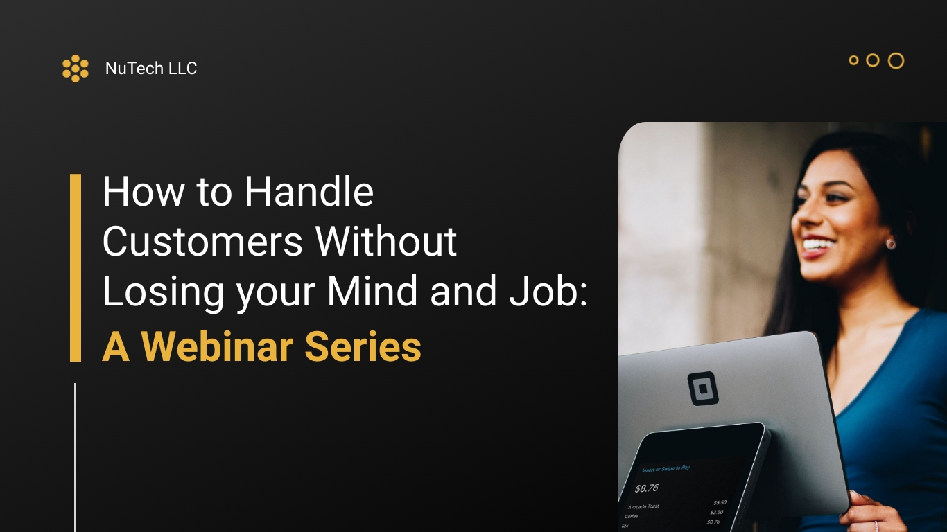 Customer Service - Webinar Presentation Template