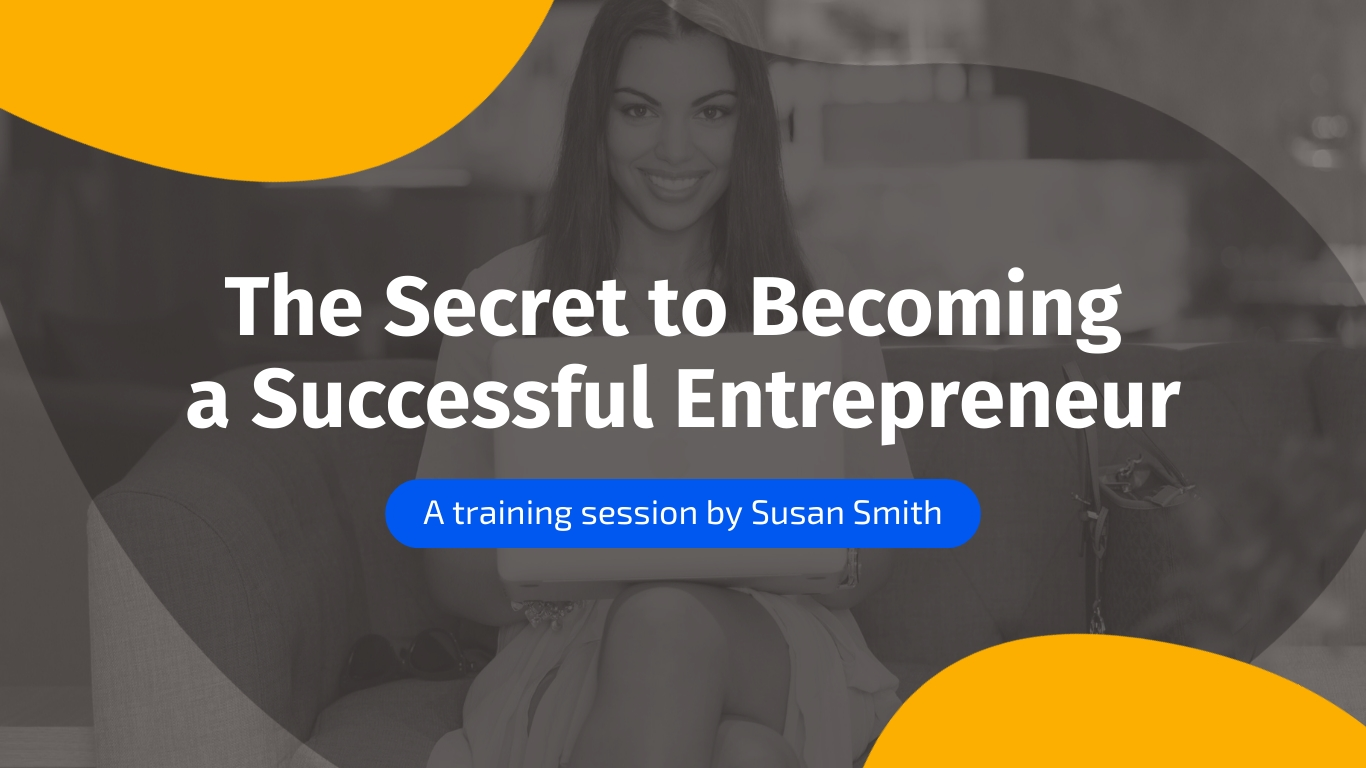 Entrepreneurship - Webinar Presentation Template