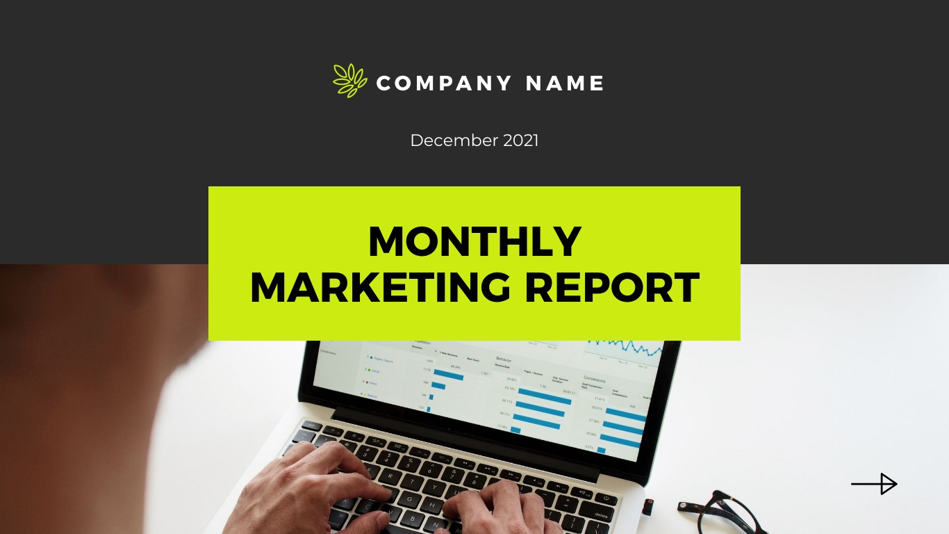 Monthly Marketing Report - Interactive Presentation Template