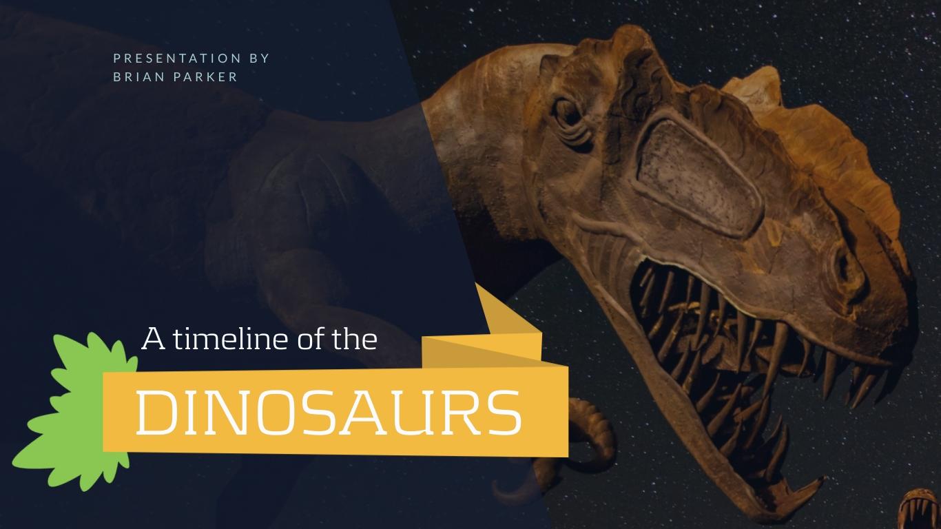 Prehistoric Timeline of Dinosaurs - Presentation Template